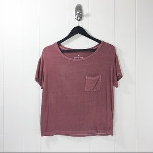 American Eagle Soft & Sexy Crop Top Tee